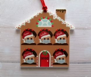 Gingerbread House Family 2020 Ornament